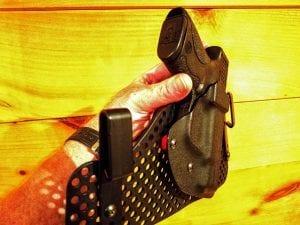 Redline Holsters Half shell holster on an Ultimate backer