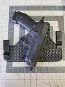 Robs Holsters half shell holster with ultimate backer